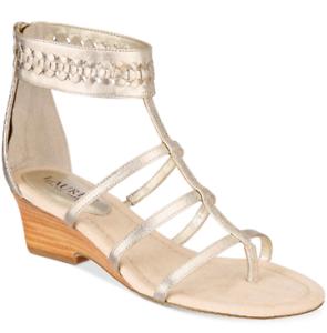NEW Lauren Ralph Lauren Women's Meira Wedge Sandals Size 5 B Silver $139