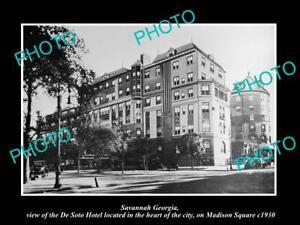 OLD-8x6-HISTORIC-PHOTO-OF-SAVANNAH-GEORGIA-VIEW-OF-THE-DE-SOTO-HOTEL-c1930