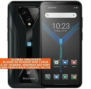 """BLACKVIEW BL5000 5 G Robuste 8 Go 128 Go Octa Core 6.36"""" Imperméable Android 11 Near Field Communication"""