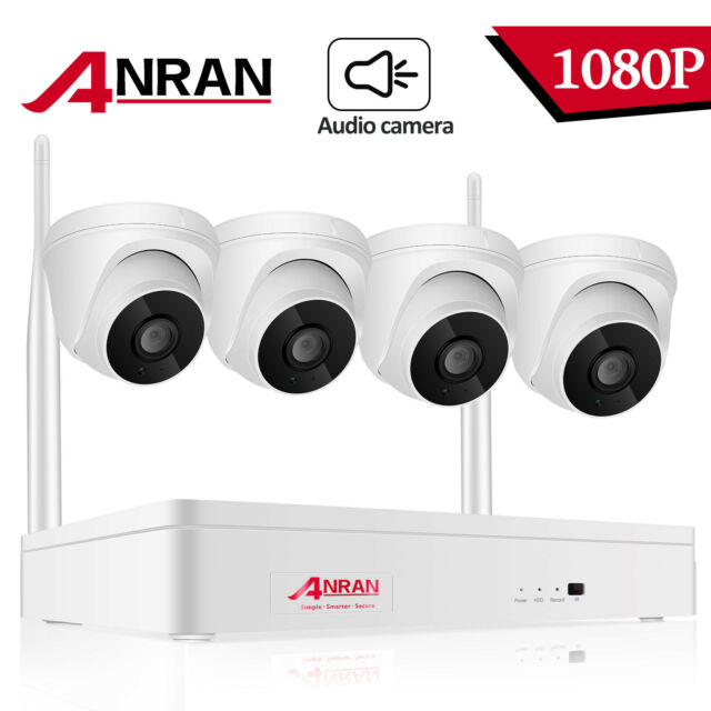 Wireless Home Security Camera System 1080P HD Oneway Audio Dome CTV IR Cut-Night