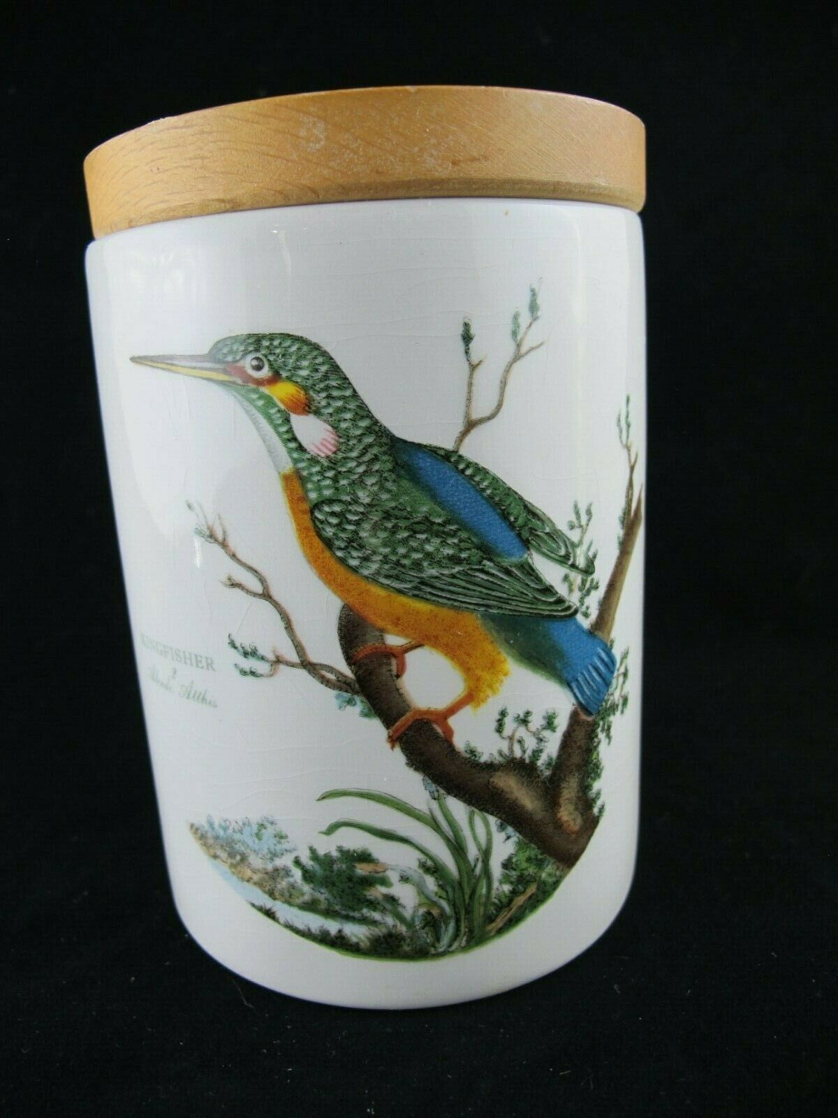 Portmeirion Birds of Britain CANISTER   STORAGE JAR with Wooden Lid - 5