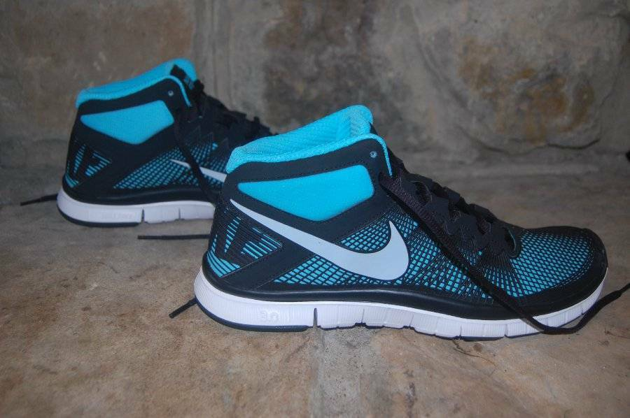 New NIKE FREE Training Shoe Uomo 10.5  Nero Gamma Blue Aqua 615994-004