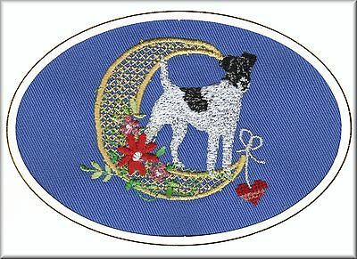 Border Terrier Birthday Card or Notecard Embroidered by Dogmania