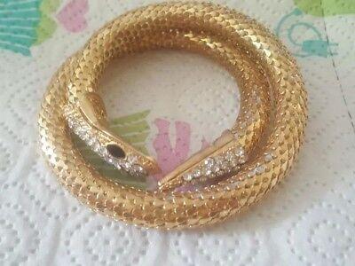 Women Long Silver Gold Metal Fashion Snake Bracelet Arm Fringes Chain Cuff Cobra