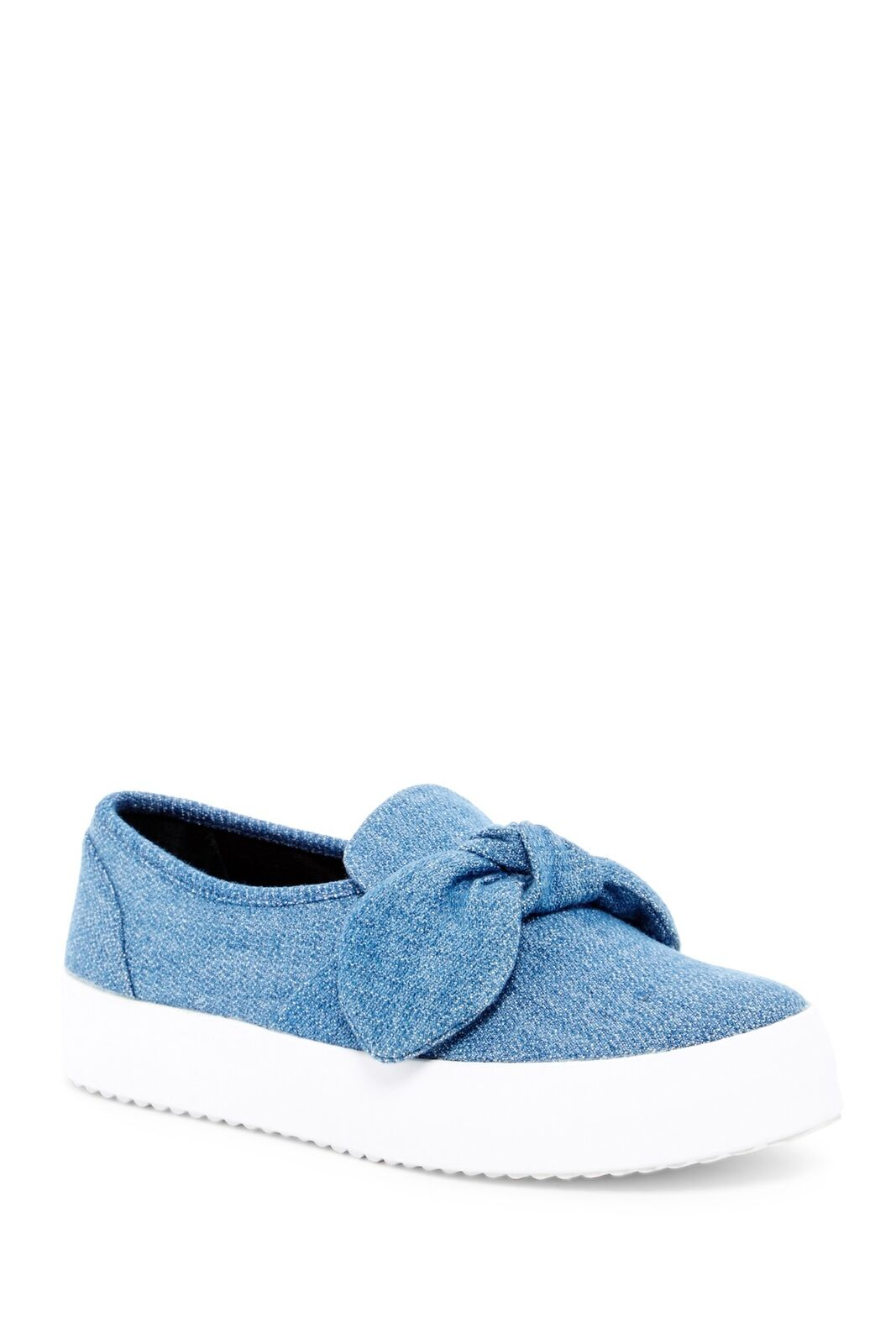Rebecca Minkoff Stacey Stud Bow Platform Sneaker( Light bluee,9.5)