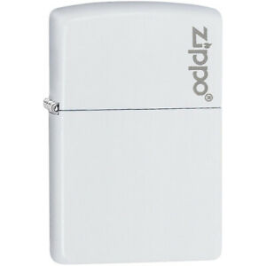 Zippo-Logo-Matte-Pocket-Lighter-White