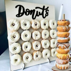 Wedding Favours Doughnut Display Stand Holder for Birthday Rustic Wedding Party Donut Decoration HOWAF Donut Wall Party Display 2 Panels Fits 18 Doughnuts
