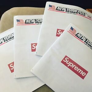 ca6361090e6d Details about  2 Copies  Supreme X New York Post Newspaper Rare 2018 - Late  City Final Edition