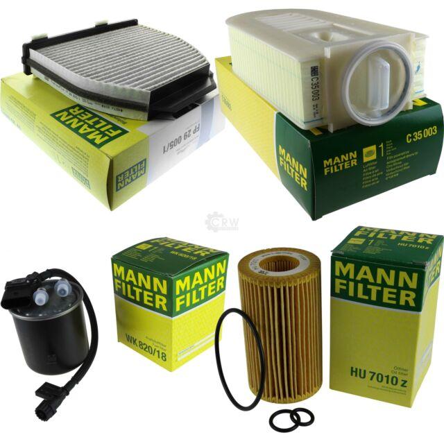 Mann-Filter pacchetto MERCEDES-BENZ CLASSE GLK x204 220 CDI 4 MATIC 200 w212 e 300