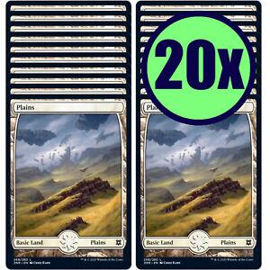 20x PLAINS 268 Full Art Basic Land NM/LP MTG Magic the Gathering Zendikar Rising