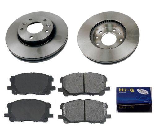 Front Ceramic Brake Pad Set /& Rotor Kit for 2002-2003 Kia Sedona