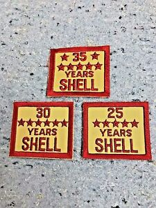 SHELL OIL GAS EMPLOYEE YEARS OF SERVICE PATCH NOS EMBLEM/'S 30 Years Service