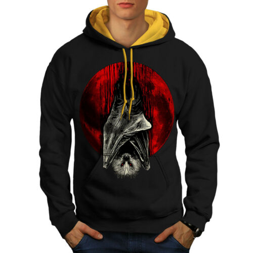 Vampire Moon Black Hood Hoodie Men gold New Blood Contrast 5azqUHd5w