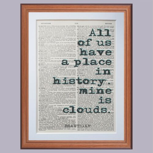 Richard Brautigan Quote Dictionary page art print gift literary quote gift