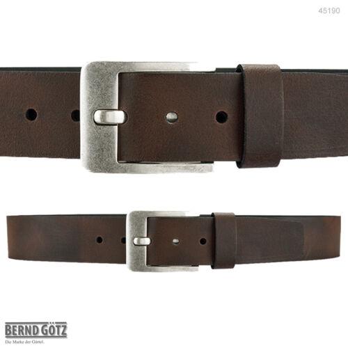 45190 BERND GÖTZ stark reduziert Jeansgürtel 4,5 cm breit Ledergürtel kürzbar