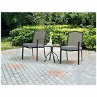 3 Piece Bistro Set Outdoor Chairs & Table Patio Furniture Backyard Deck Pool NEW