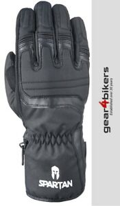 Oxford Spartan Black Motorcycle Glove Motorbike Gloves Winter Warm CE Approved