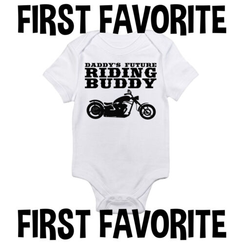 Motorcycle Daddy Baby Onesie Shirt Shower Gift Dad Father Newborn Clothes Gerber