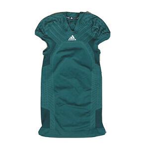 Details about adidas Techfit Primeknit Football Jersey Dark Green Climacool Size Men's Large