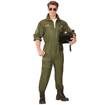 Army Kampfpilot Kostüm für Herren NEU - Herren Karneval Fasching Verkleidung Kos