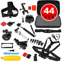 44 In 1 Accessories Sets Case Head Chest Monopod Bike Surf Mount For Gopro Hero