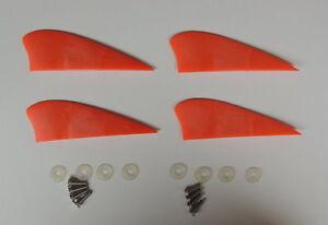 4 pieces 2 inch fins for kiteboard kitesurfing kiteboarding kite board..