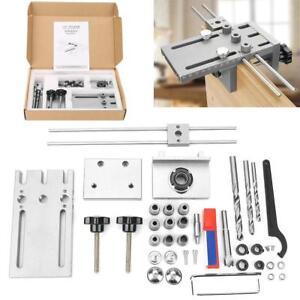 Dispositivo-Per-Spinatura-Spinatura-Guida-Trapano-Morsetto-Dowelling-Jig-Kit-Set