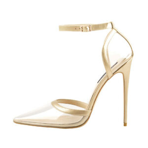 Onlymaker-Womens-Clear-Pointed-Toe-High-Heels-Sandals-Ankle-Strap-Shoes-US5-15
