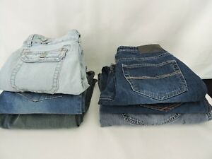 Details About 6 Pair Denim Blue Jeans Pants For Repair Sewing Crafts Over 7 Lbs
