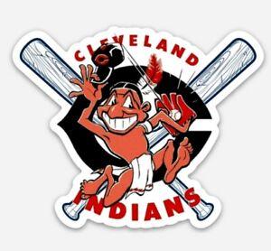 Chief-Wahoo-STICKER-Vintage-Cleveland-Indians-Custom-Vinyl-MLB-Baseball-CLE