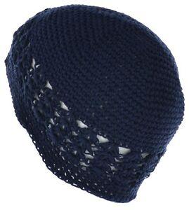 100% Cotton KUFI Crochet Beanie Skull Cap Knit Hat Brand New 19 Different Colors