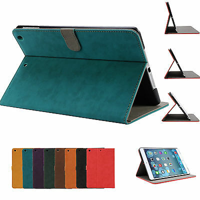 Classic Pu Leather Smart Cover Case for Apple iPad mini 3 2 1