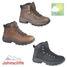 Johnscliffe CANYON Unisex Leather Jontex Hiking Boots Conker Brown Oily Leather