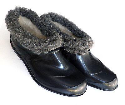Zapatos del jardín con forro de piel sintética galoschen glogs goma галоши
