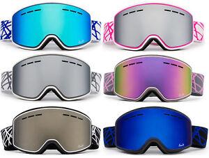 Ski-Snowboard-Snow-Goggles-Winter-Sports-034-Cross-Pattern-034-Anti-Fog-Dual-Lens