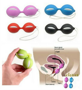 Image Is Loading Kegel Silicone Ben Wa Balls Excercise Pelvic Beads