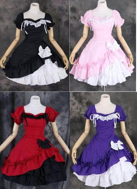 M-3132 S/M/L/XL/XXL Gothic Classic Lolita Cosplay Kostüm costume Kleid dress