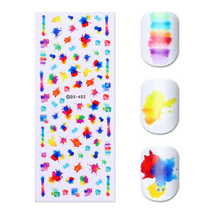 Water-Decal-Transfer-Sticker-Colorful-Ink-Painting-Nail-Art-Sticker-Decals-DIY