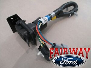 details about 96 bronco f-150 oem genuine ford parts trailer towing wire  harness w/ plug 7-pin