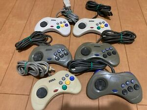 Sega-Saturn-Controller-lot-of-6-JAPAN-SS-SS112