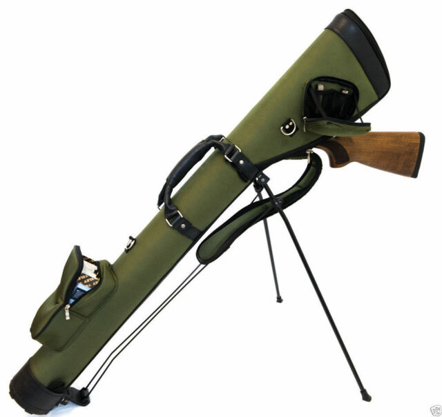 "GREEN Well Padded Gun Slip 52/"" Shotgun Bag Clay Pigeon Shooting Hunting New"