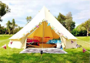 competitive price e7539 d5a99 UNISTRENGH 6M Waterproof Canvas Bell Tent Glamping ...