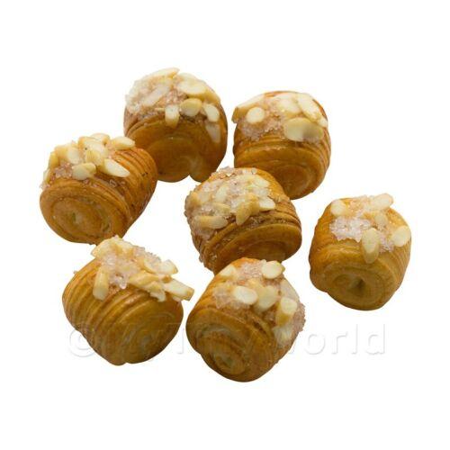 4x Pasta Laminada Dulce rematado con azúcar Almendras