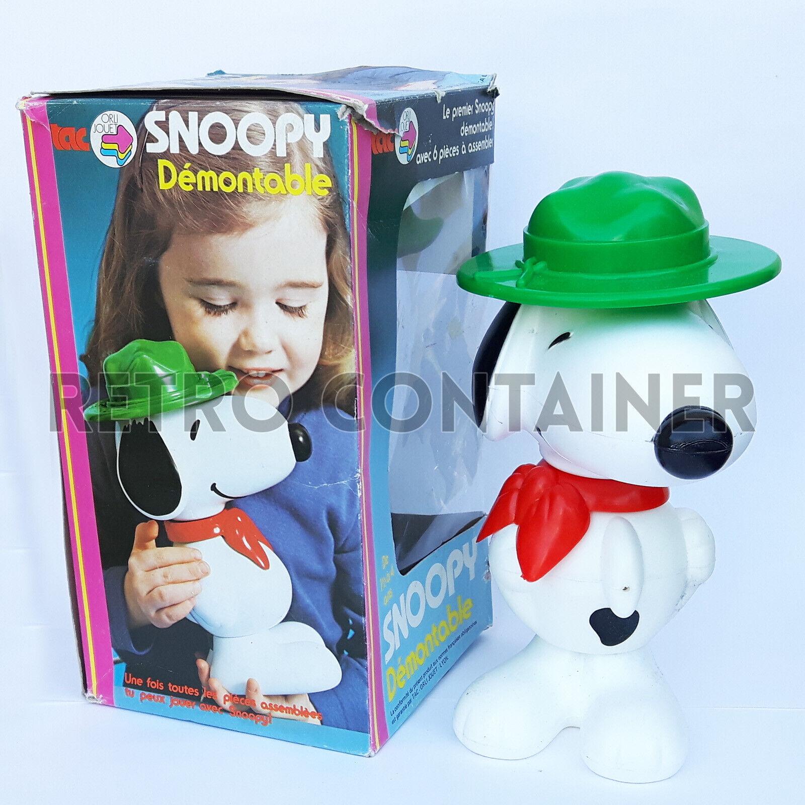 TAC Orli Jouet - SNOOPY Démontable - Faiplast Vintage Toy 1970's Charles Schulz