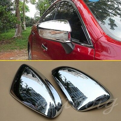 Chrome Side Mirror Cover FOR 2014-2016 Mazda6 GJ ATENZA Rearview Styling ABS