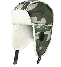 ED HARDY MENS ARMY FLEECE LINED TRAPPER HAT OUTDOOR THERMAL CAMOUFLAGE HAT - NEW