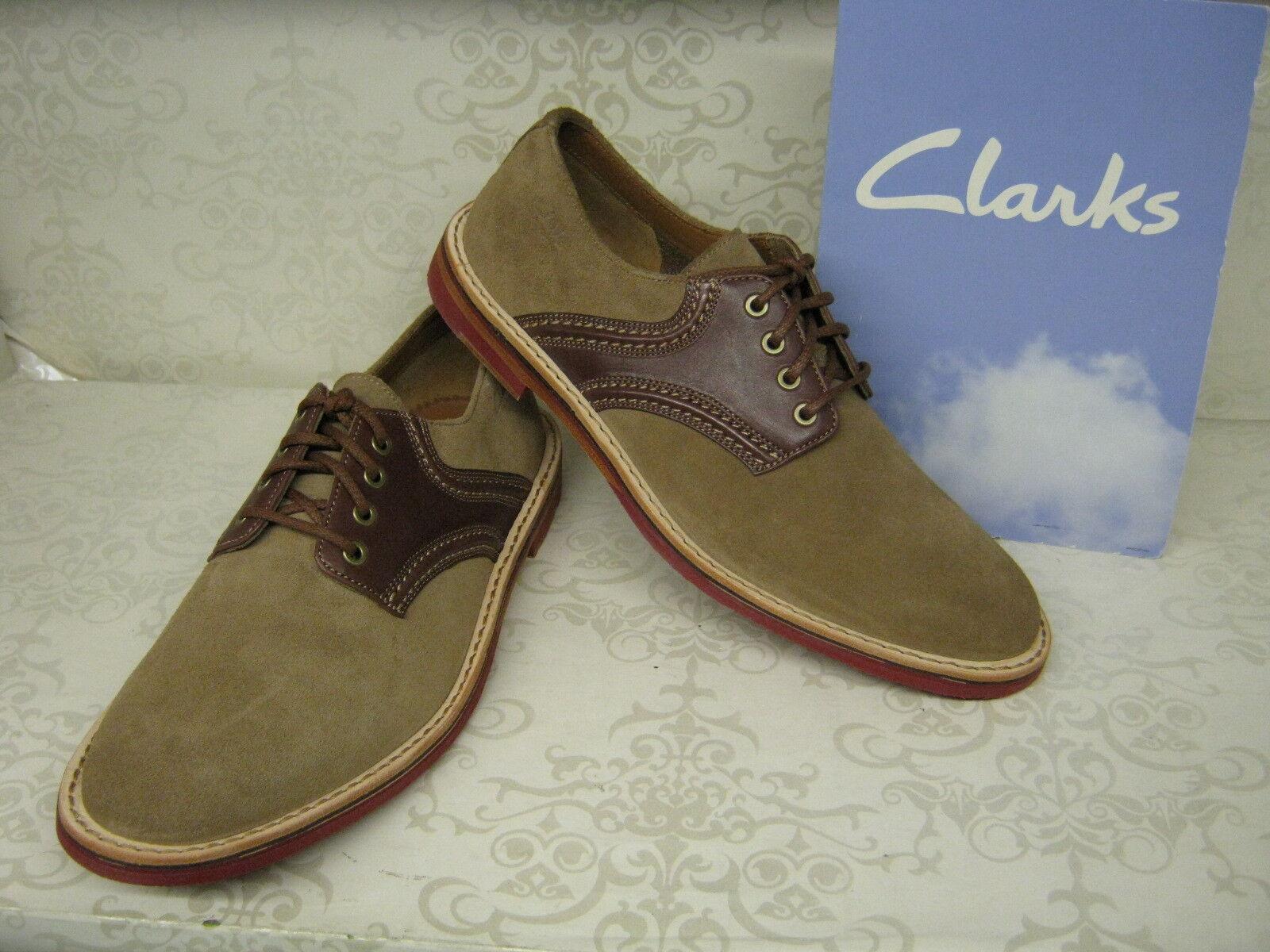 Clarks Duty Trek Wolf Combi Gamuza Cuero Inteligente Zapatos Con Cordones