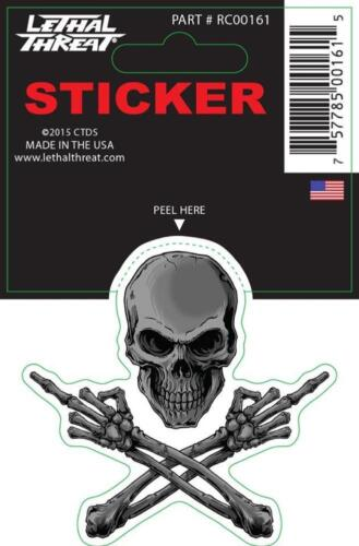 Lethal Threat Sticker Decal Anywhere Motorbike Helmet Boards Tablet IPad RC00161