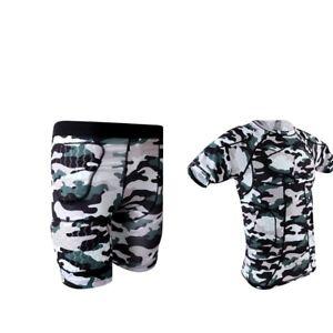 Men-039-s-Boys-Compression-Shirt-Shorts-Rib-Protector-for-Football-PICK