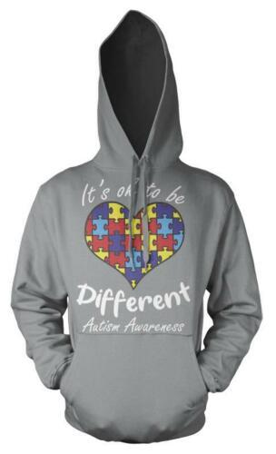 Il SUO OK per essere diverso amore cuore Autismo Puzzle Felpa Adulto